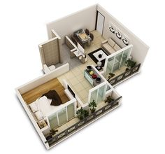 plans for small apartment interior design (2)