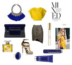 """A matter of yellow"" by zaralovezara ❤ liked on Polyvore featuring Jil Sander, Mary Katrantzou, Lipsy, Carolee, Accessorize, Jean Patou, Miriam Quevedo, Elemis and Chloé"