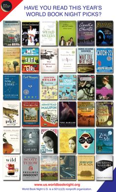 2014 World Book Night Books offered. Our gnomes match these books!