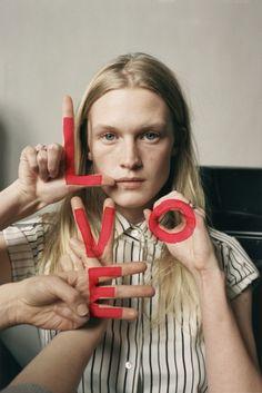 Model Elisabeth Moses by photographer Tim Walker, Vogue UK, 2002.