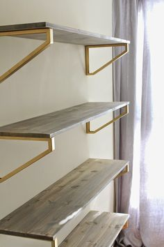 Cup Half Full: Rustic Wood Shelf DIY