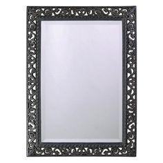 Howard Elliott Custom Color Bristol Rectangle Mirror - 26W x 35H in. Glossy Charcoal Gray - 6041CH