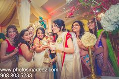 BridesMaids Photo at Mahwah Sheraton - Indian Wedding. Best Wedding Photographer PhotosMadeEz, Award winning photographer Mou Mukherjee. Featured in Maharani Weddings.
