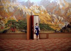 An employee enters a room at a hotel in Mount Kumgang resort in Kumgang September (Photo by Carlos Barria/Reuters). Accidental Wes Anderson, Wes Anderson Movies, Grand Budapest Hotel, North Korea, Architecture, Art Direction, Resorts, Scenery, Decoration