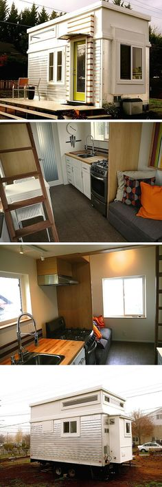 A former trailer remodelled into a tiny house.