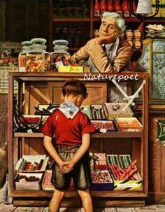 The Candy Shop Downloadable, Printable, Digital Art Image Norman Rockwell Instant Download by naturepoet on Etsy