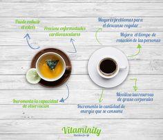 ¿Tomar #te o #café? Son dos de las bebidas más consumidas en el mundo y las investigaciones cuentan con resultados muy diferentes. Tomados con moderación y de forma natural ambos nos permiten disfrutar de los beneficios de la #cafeina. #Vitaminity #Nutritionforlife #Bienestar #Alimentación #Nutrición