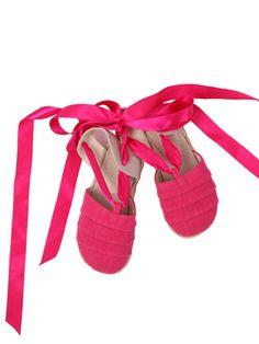 Hot Pink Espadrilles $35.00
