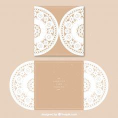Floral ornamental card Free Vector