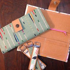 my fabric relish: Kraft-Tex Wallet(s) - tips on working with Kraft-Tex paper/fabric