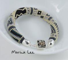 Silver fog Silver Bracelet Classic Bead Crochet от LeeMarina