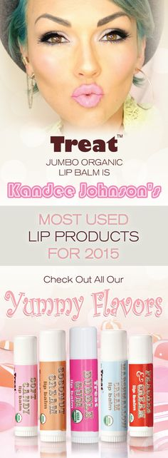 Have you had a chance to Treat yourself to Kandee Johnson's most used lip product of 2015? They're jumbo sized, USDA certified organic and good for the whole family. Treat yourself to one today!