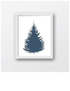 Tree of Blue Tree Art Print Digital Download by MaxMeOneUniverse