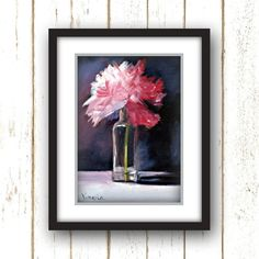 Pink Peony Art Print Large Wall Art | Etsy Unframed Art, Etsy Wall Art, Art Prints, Painting, Peonies Art Print, Flower Of Life, Oil Painting, Art, Painting Blog