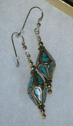 14kt GF Antiqued Brass with Turquoise  Beaded by dsmenagerie