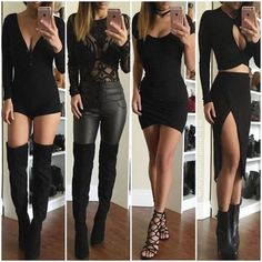 Cute outfits, going out outfits, sexy outfits, fall outfits, sexy dresses. Komplette Outfits, Fall Outfits, Summer Outfits, Casual Outfits, Fashion Outfits, Black Outfits, Fashion Night, Party Fashion, Teen Fashion