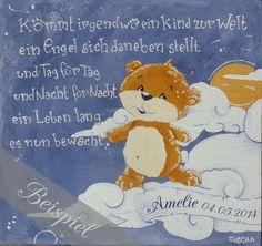 """Acrylmalerei """"Schutzengel"""" von PimpYourHome by Tascha auf DaWanda.com"""