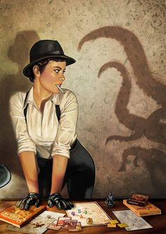 Pinturero... this is kind of awesome.  Lovecraft and nerdy gamer pin up
