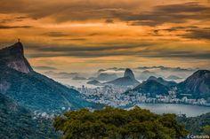 Rio de Janeiro from the Chinese Belvedere - Panorama of the city of Rio de Janeiro highlighting the mountains of Corcovado (left), Sugarloaf (center, background), from the Chinese Belvedere  https://en.wikipedia.org/wiki/Rio_de_Janeiro https://en.wikipedia.org/wiki/Christ_the_Redeemer_(statue) https://en.wikipedia.org/wiki/Vista_Chinesa https://en.wikipedia.org/wiki/Sugarloaf_Mountain