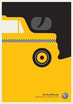 Noma Bar. Taxi Driver, for Volkswagen. See film differently.