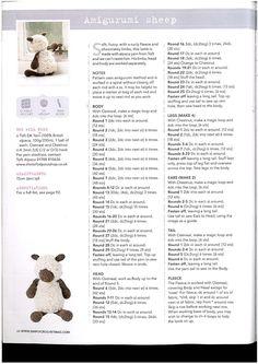 Sheep Free Amigurumi Pattern http://2.bp.blogspot.com/-mjzLB5OU7wg/UybzoqGmU5I/AAAAAAAACWM/mVIGgVtdAWo/s1600/oveja.jpg