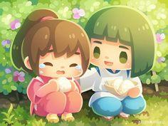 Spirited Away Haku, Kawaii Girl Drawings, Chihiro Y Haku, Castle Drawing, Studio Ghibli Art, My Neighbor Totoro, Art Inspo, Watercolor Art, Character Design
