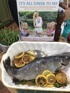Debbie makes a Mediterranean style lemon-baked whole trout! #fish #wholefish #mediterranean #greek #homeandfamily #Homeandfamilytv