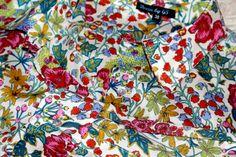 Long Sleeve $shirts in $LibertyLondon #Edna #fabric by DressbyGS  #fashion #streetfashion #jcrew #flowery #prints #flowers #SewLiberty