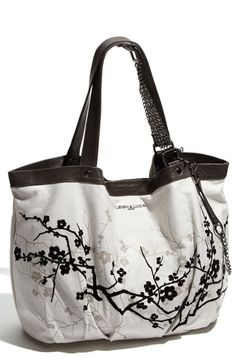Leigh and Luca New York 'Flower' Canvas Tote.