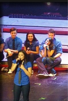 Glee Live...this pic was taken way before Cory and Lea started dating. Attraction was always there as they stated in interviews.