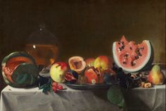 Pensionante del Saraceni French (?), active c. 1610/1620 Still Life with Fruit and Carafe c. 1610/1620 oil on canvas