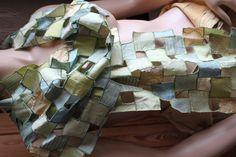 Dekorativer Schal aus Seide, Patchwork, edel von rundlingswerkstatt auf DaWanda.com