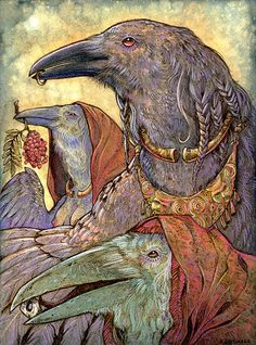 Generations - Celtic Raven Triple Goddess Shaman by Stephanie Lostimolo.