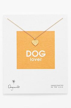 UM LOVE - Dogeared 'Reminder - Dog Lover' Boxed Pendant Necklace available at #Nordstrom