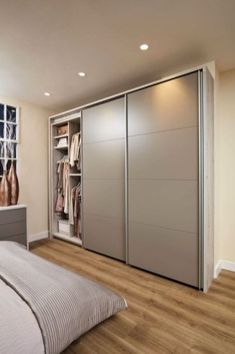 52 Popular Wardrobe Design Ideas In Your Bedroom. The most essential and important aspect of your bedroom includes your bed and bedroom wardrobe. Wardrobes give you extra storage capacity in your room. Wardrobe Interior Design, Wardrobe Design Bedroom, Room Design Bedroom, Bedroom Furniture Design, Home Room Design, Home Decor Bedroom, Indian Bedroom Decor, Furniture Layout, Sliding Door Wardrobe Designs
