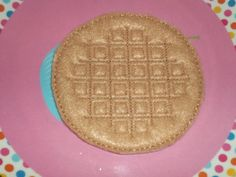 Felt Food 2 Waffles with Syrup & Butter by KidsKitchenKreations