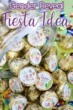 These taco 'bout a baby shower favor stickers are the perfect finishing touch for a fiesta theme baby shower. #genderrevealfiesta #tacoboutababy #tacothemegenderreveal