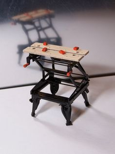 Perfect Miniature replica of this movable work bench by Jeff's Miniatures