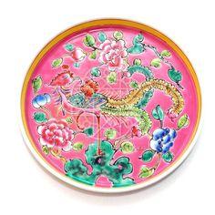 Singapore / Malaysia: Nyonyaware ceramic plate with phoenix decoration, Peranakan community