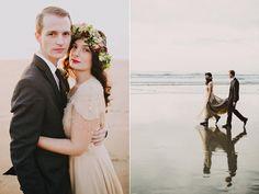 beach wedding elopements - Dylan and Sara Photography - http://ruffledblog.com/woodland-portland-elopement