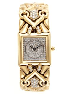 BULGARI Trika Watch - Square yellow Gold case with Diamond-detailed dial. Total Diamond carat weight is yellow Gold and Diamond bracelet. Water resistance tested at Box tab push button. Ring Armband, Or Noir, Fashion Accessories, Jewelry Accessories, Bling, High Jewelry, Snake Jewelry, Diamond Are A Girls Best Friend, Jewelry Watches