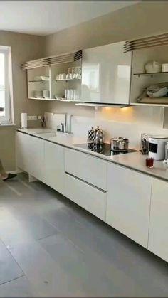 Luxury Kitchen Design, Kitchen Room Design, Home Decor Kitchen, Interior Design Kitchen, Kitchen Ideas, L Shaped Kitchen Interior, Kitchen Wardrobe Design, Moduler Kitchen, L Shaped Kitchen Designs