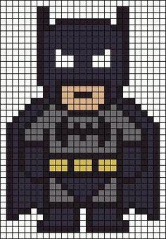 batman logo pixel art template - Google Search