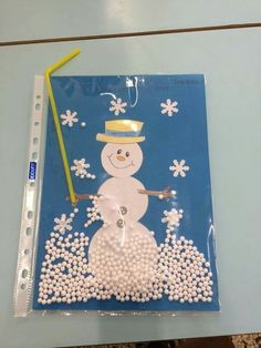 Basteln Winter - New Ideas Preschool Christmas, Christmas Activities, Winter Christmas, Kids Christmas, Winter Crafts For Kids, Winter Kids, Art For Kids, Snowman Crafts, Holiday Crafts