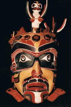 Bob Harris,  Kwakwa̱ka̱'wakw artist Komokwa Mask - Lord of the Undersea Vancouver Museum Collection Artifact Number: 160