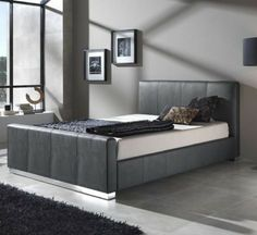 We have a wide range of leather beds & TV beds from UK leaders, Kaydian. Simple Bed Frame, Tv Beds, Leather Bed, Luxury Bedding, Upholstery, Durham, Cool Stuff, Bedroom, Storage