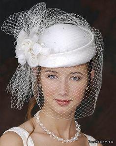 Свадебные шляпки и вуали / шляпки с вуалью своими руками