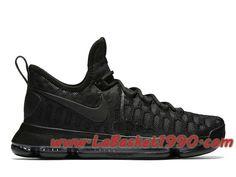 free shipping 4383e 6370b Nike Zoom KD 9 Triple Black 843392-001 Chaussures Nike Basket Pas Cher Pour  Homme