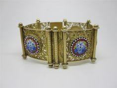 BEAUTIFUL VICTORIAN SOLID SILVER GILT & MICRO MOSAIC BRACELET in Jewellery & Watches, Vintage & Antique Jewellery, Vintage Fine Jewellery   eBay