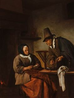 Jan Steen, An Old Couple Making Caudle, c. 1665 - 1670